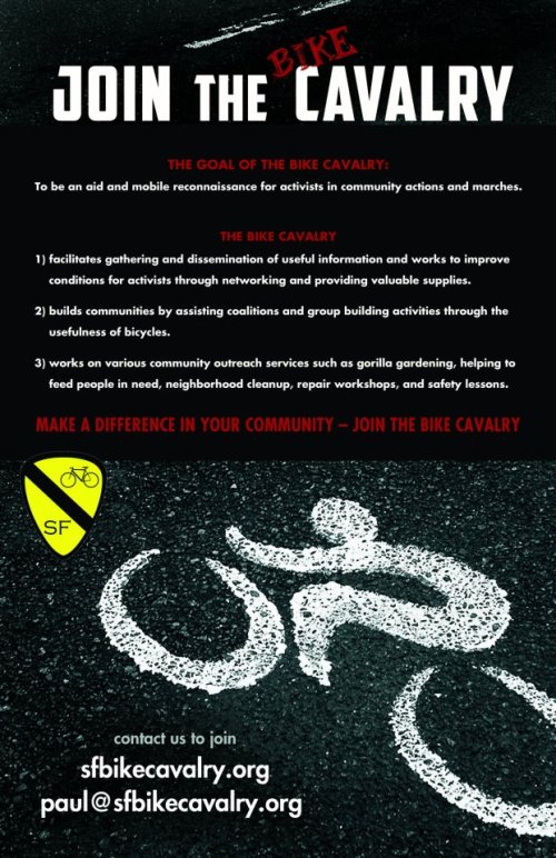 SF Bike Cavalry Recruiting Poster
