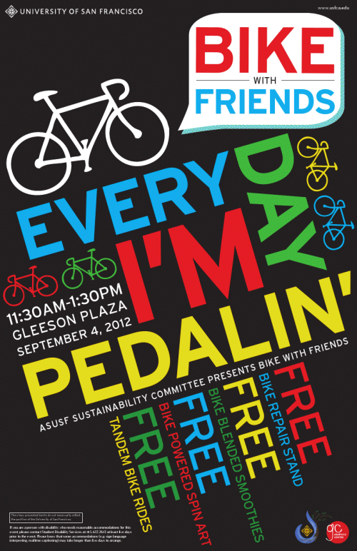 Visit us @ the USF Bike with Friends event this Tues Sept 4th