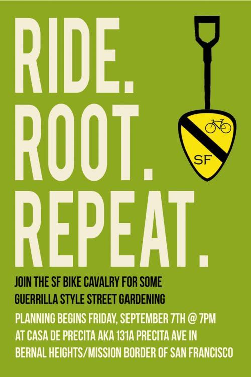 Guerrilla Gardening Bike Cavalry Style